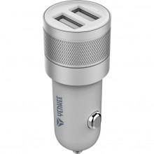 YENKEE YAC 2048SR USB autonabíječka stříbrná 4.8A 30014755