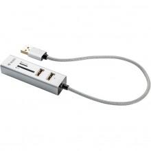 YENKEE COMBO YHC 101SR USB HUB+čtečka bílá 45012401