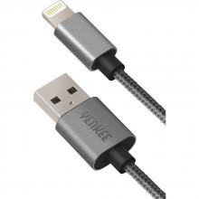 YENKEE YCU 601 GY kabel USB / lightning 1m 45011250