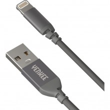 YENKEE YCU 611 GY USB / lightning 1m kabel šedý 30015966