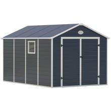 Zahradní domek G21 PAH 882 - 241 x 366 cm, plastový, šedý 6390040