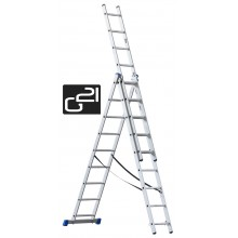 Žebřík G21 3-dílný 7,6m 3x11 příček 6390389