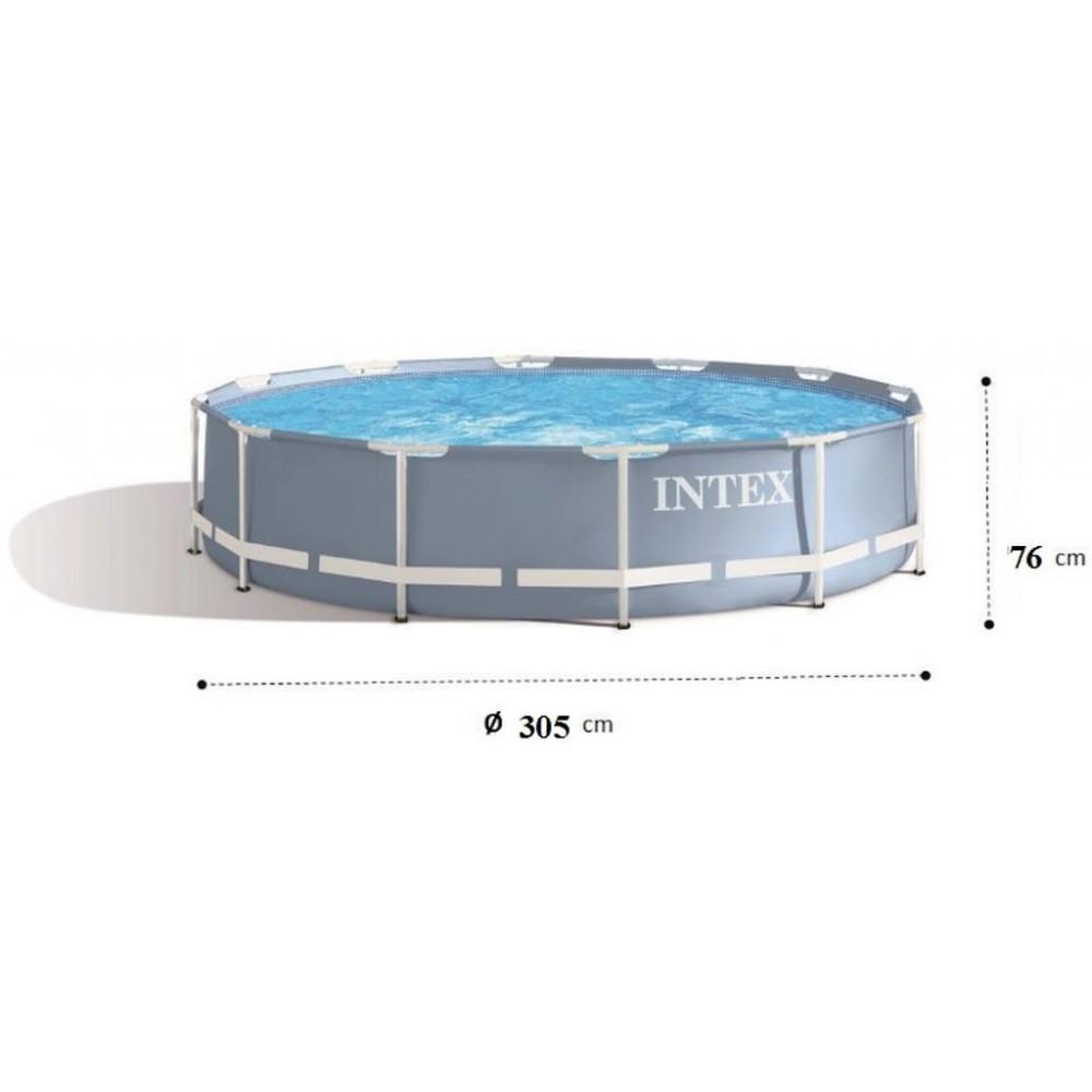 intex prism frame pool baz n 305 x 76 cm 28700np. Black Bedroom Furniture Sets. Home Design Ideas