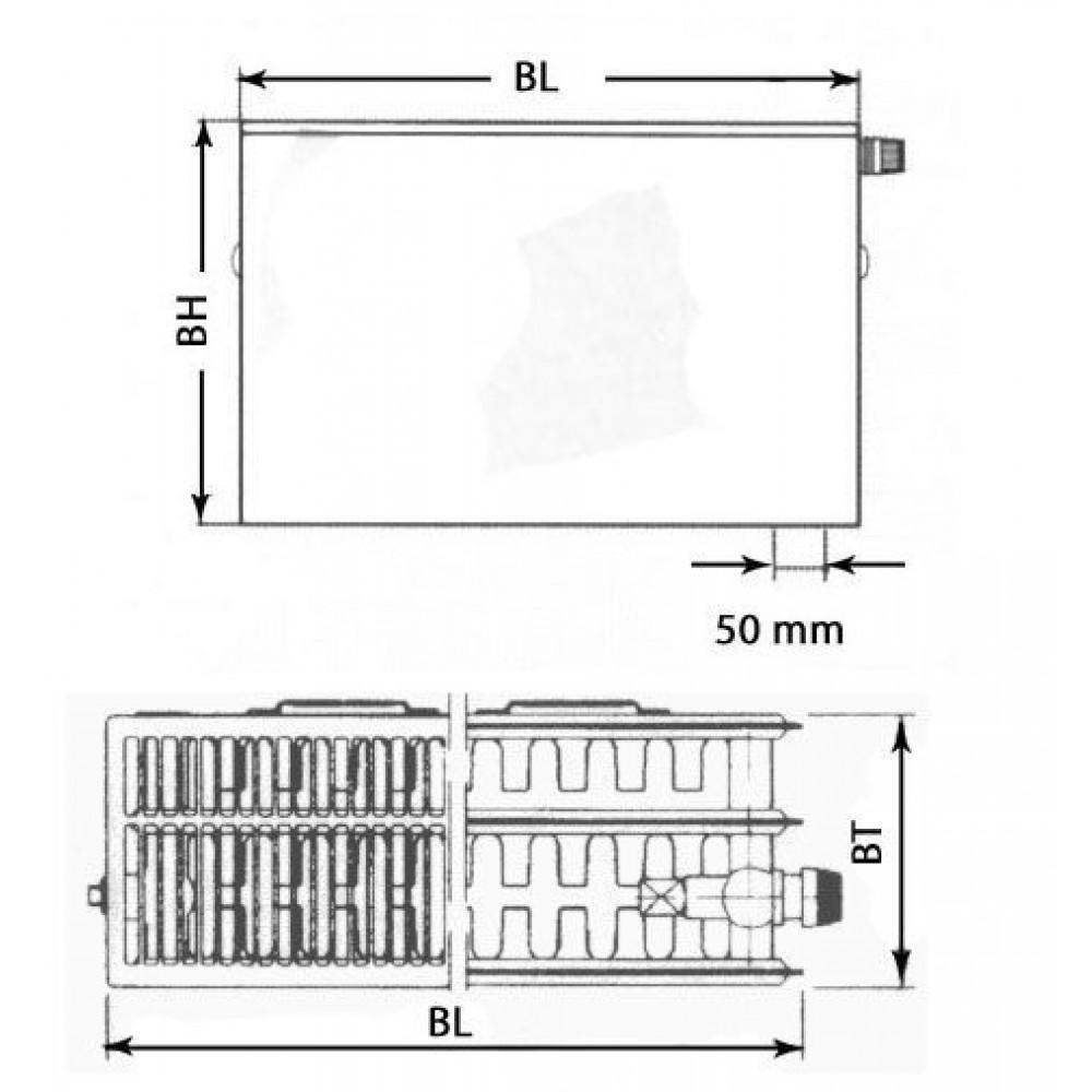 kermi therm x2 plan v deskov radi tor 33 300 600 ptv330300601r1k. Black Bedroom Furniture Sets. Home Design Ideas