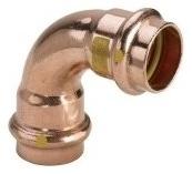 VIEGA CU Profipress plyn, oblouk 2616 15/90 345464V