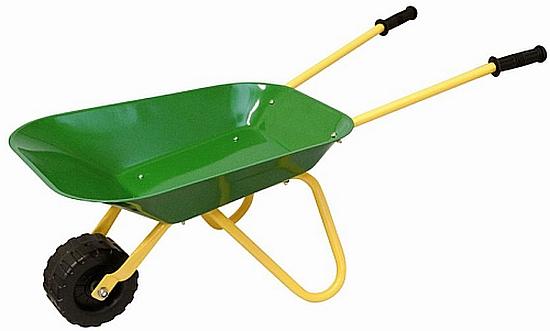 Woody Dětské zahradní kolečko zelené, kovové 695059