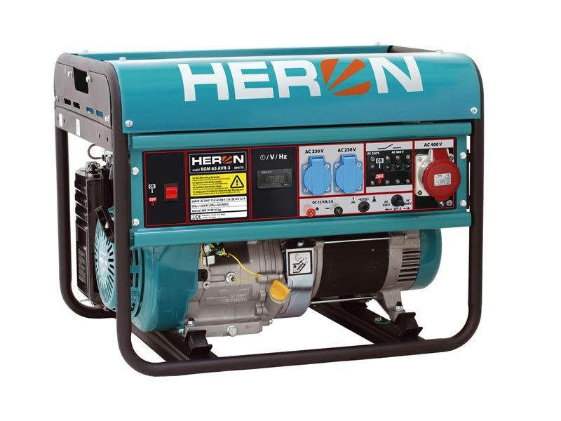 HERON EGM 65 AVR-3 elektrocentrála benzínová 15HP / 6,5KW 8896118