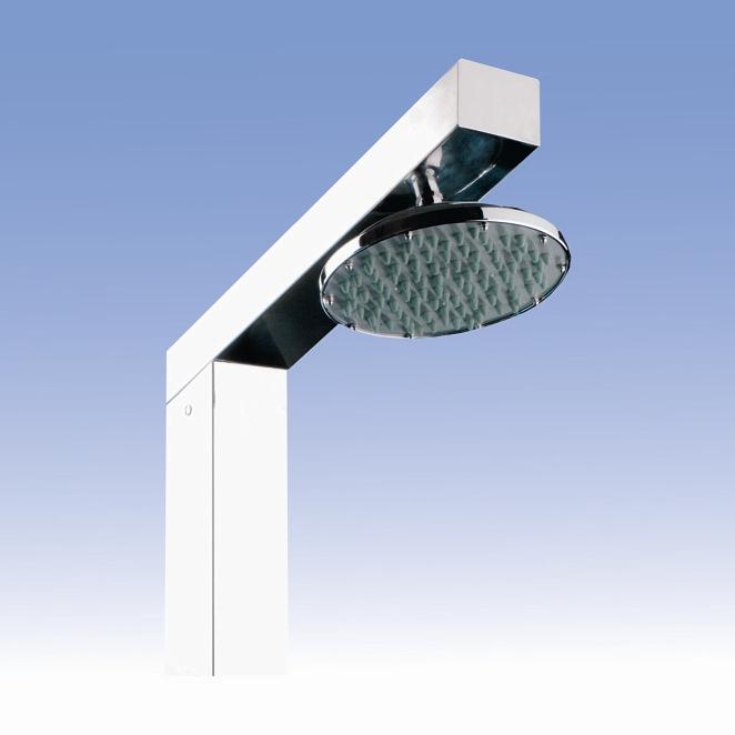 SANELA Zahradní sprcha SLSN 04V s tlačným ventilem, velká sprcha, 1 voda 92045