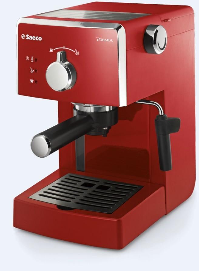 SAECO Manual Poemia - červená HD8423/29 domácí pákový kávovar