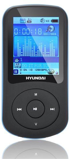 HYUNDAI MPC 401 FM MP3/MP4 Přehrávač 4 GB, černá - modrý proužek