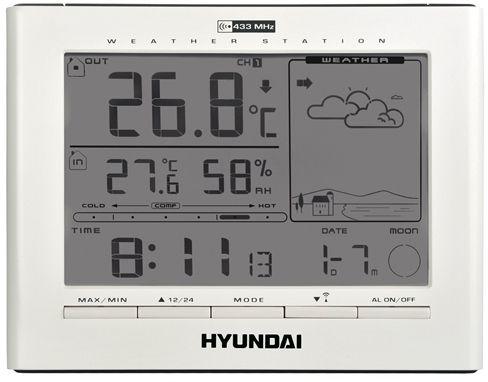 HYUNDAI WSC 2180 Meteorologická stanice, bílá