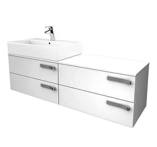 IDEAL Standard STRADA skříňka pod umyvadlo 1400 x 420 x 420 (umyvadlo vlevo) šedá K2461WH
