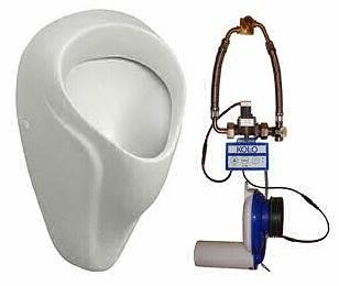 KOLO Nova Pro pisoár přívod zezadu, odpad dozadu s automatickým termickým splachovačem (AC) 69016