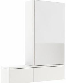 KOLO Nova Pro zrcadlová skříňka pravá, závěsná, lesklá bílá 88433