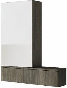 KOLO Nova Pro zrcadlová skříňka levá, závěsná, šedý jilm 88441