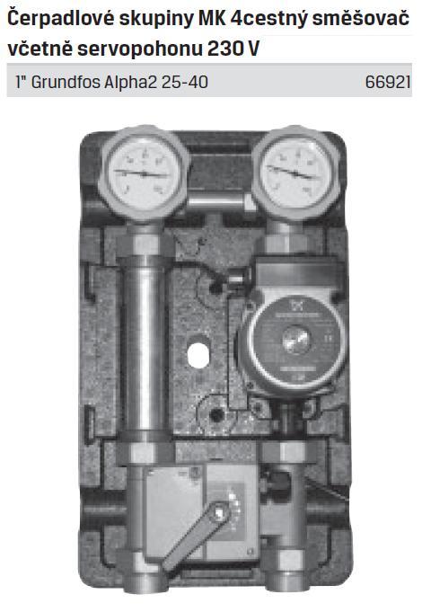 Čerpadlová skupina MK s 4-cestným směšovačem Alpha2 25/40