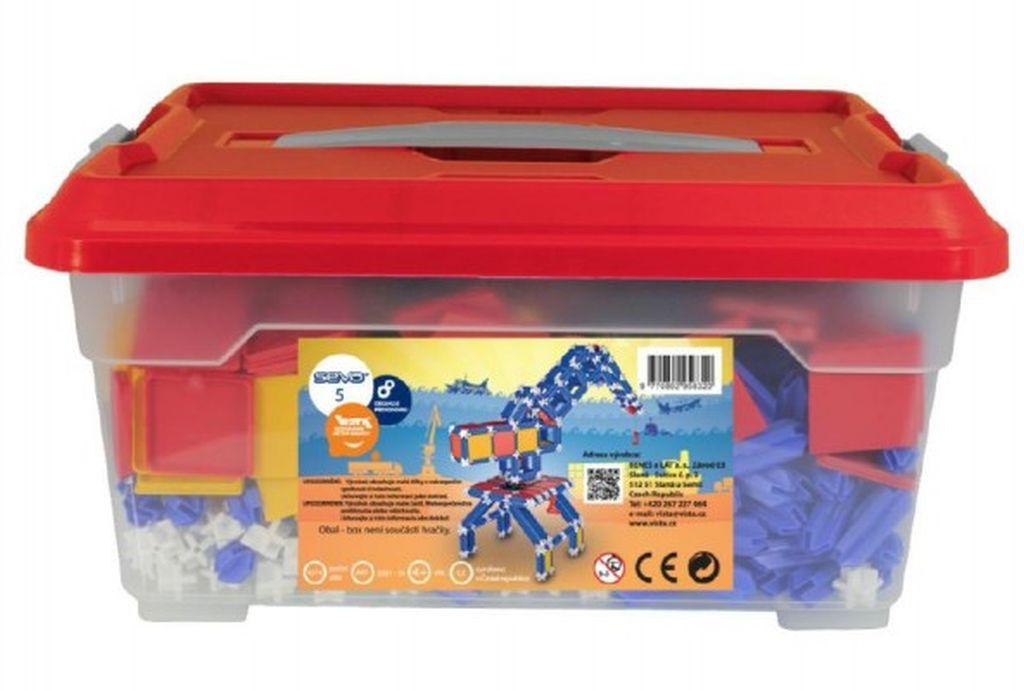 Stavebnice Seva 5 Jumbo plast 1064ks v plastové krabici 40030135