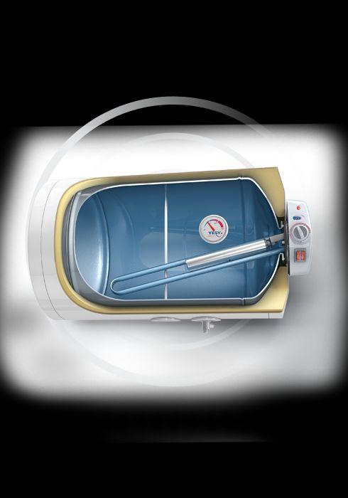 TESY BASE LINE ANTICALC elektrický ohřívač vody horizontální, 80l GCH 8045 24D A04