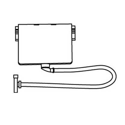 IDEAL Standard záchytná nádoba pro instalaci vanové armatury na okraj vany A1011NU