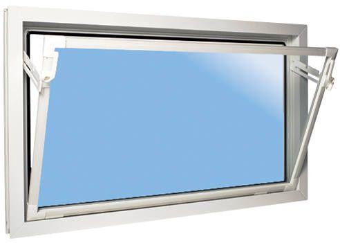 VÝPRODEJ ACO sklepní celoplastové okno s IZO sklem 80X40cm bílá PRASKLINA VE VNĚJŠÍM ROHU