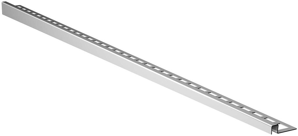 ACO ShowerStep přechodová lišta 1490 mm, broušený povrch, pravý 9010.72.49