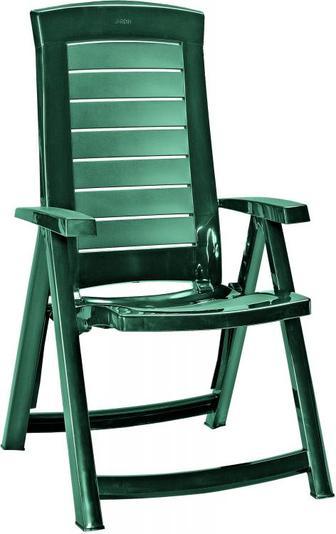 ALLIBERT ARUBA zahradní židle polohovací, tmavě zelená 17180080
