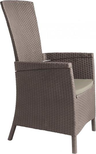 ALLIBERT VERMONT zahradní židle polohovací, Cappuccino 17201675
