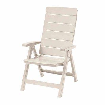 ALLIBERT BRASILIA zahradní židle polohovací, bílá 17200064
