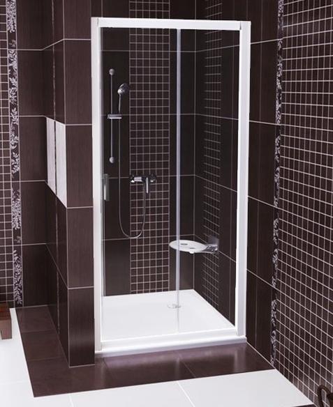 RAVAK Blix BLDP2-100 sprchové dveře posuvné dvoudílné, white+Grape 0PVA0100ZG
