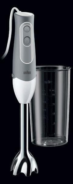 BRAUN Tyčový mixér Multiquick 5 MQ 500 Soup, šedá/bílá 41001242