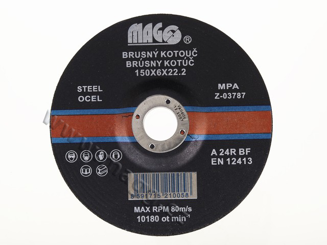 Brusné kotouče na kov 150x6x22,2mm BK150