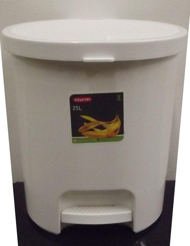 CURVER Odpadkový koš 25L bílý