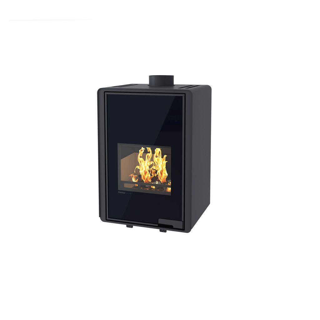 HS FLAMINGO DELUXE ® MALIA Krbová kamna 9kW, černá HSF42-019