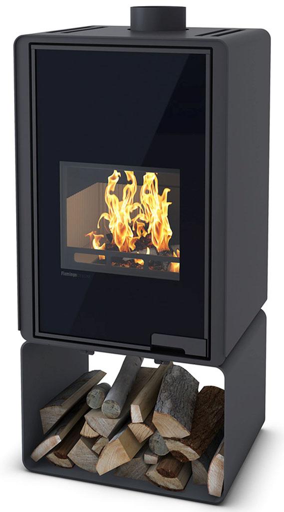 HS FLAMINGO DELUXE ® PENTAI Krbová kamna 9kW, černá HSF42-020