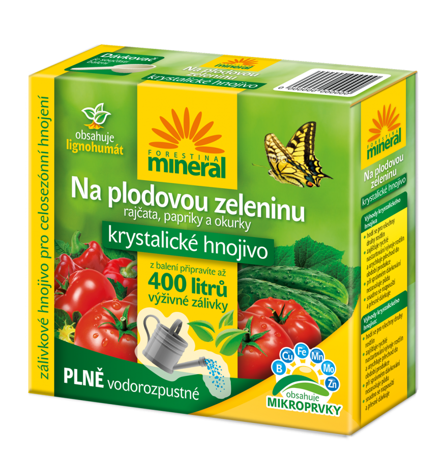 FORESTINA Mineral Krystalické hnojivo s Lignohumátem na plodovou zeleninu 400g 1204020