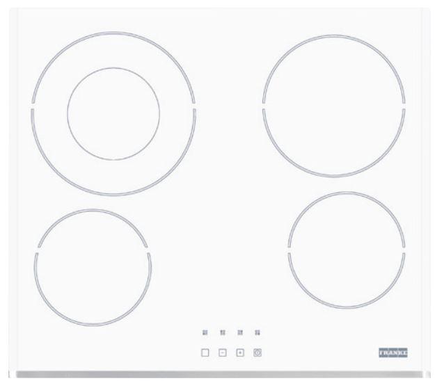 FRANKE FHC 604 4C T BP WH sklokeramická varná deska, bílé sklo 108.0290.071