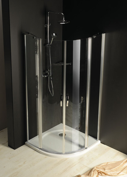 GELCO One sprchový kout čtvrtkruhový 90, sklo čiré GO5890