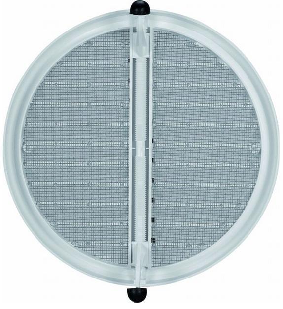 HACO větrací mřížka se síťovinou - krytka stavitelná VM 75-125 KS H plast, hnědá 0418