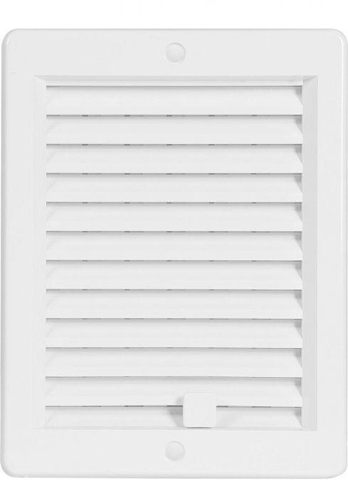 HACO větrací mřížka s rámečkem a žaluzií VM 150x200 UB plast, bílá 0209