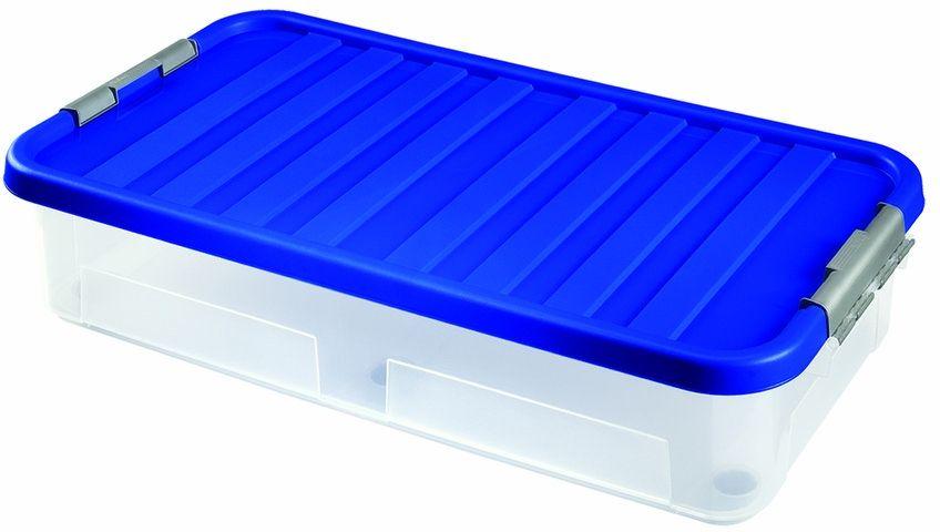 VÝPRODEJ HEIDRUN Box úložný pod postel s víkem 40 l PRASKLÝ