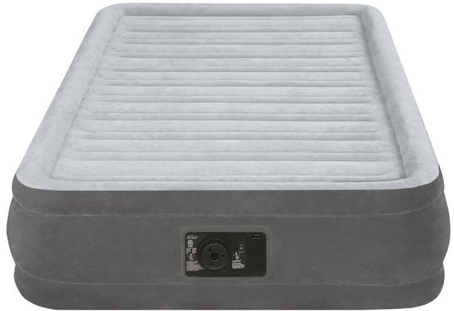 INTEX Nafukovací postel plush s vestavěnou pumpou Twin, 99 x 191 x 33 cm, 67766