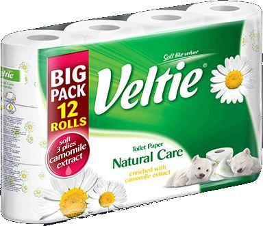 KLEENEX Welcomes Veltie Toaletní papír 12 rolí, 3-vrstvý, heřmánek 149787