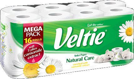 KLEENEX Welcomes Veltie Toaletní papír 16 rolí, 3-vrstvý, heřmánek 4100128
