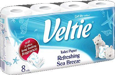 KLEENEX Welcomes Veltie Toaletní papír 8 rolí, 3-vrstvý, sea breeze 4100113