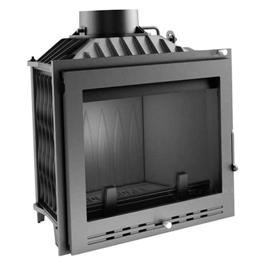 KRATKI ANTEK/LUX 10 kW krbová vložka teplovzdušná, luxusní sklo s olemováním