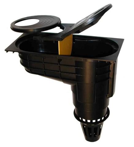 Lapač střešních splavenin - geiger CR102 DN 100 / DN125 černý