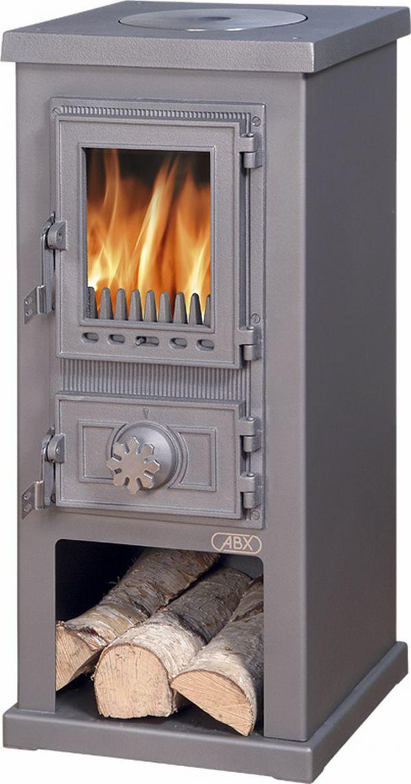 ABX Lappi 3030 krbová kamna na dřevo, šedý plech
