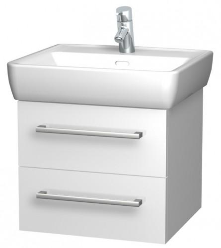 INTEDOOR NORDIC koupelnová skříňka závěsná s keramickým umyvadlem NR55/04