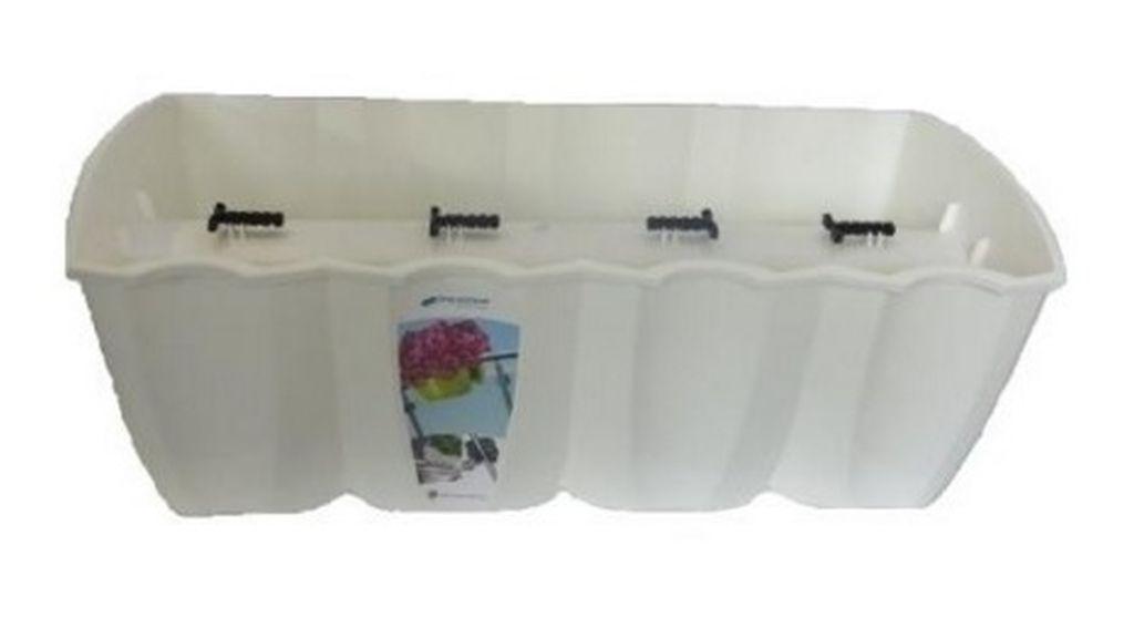 Truhlík balkonový CROWN 58x28x20cm, 18l, bílá DCRO600