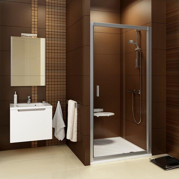 RAVAK Blix BLDP2-120 sprchové dveře posuvné dvoudílné, satin+Grape 0PVG0U00ZG